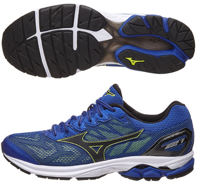 mizuno men's wave rider 21 running navy